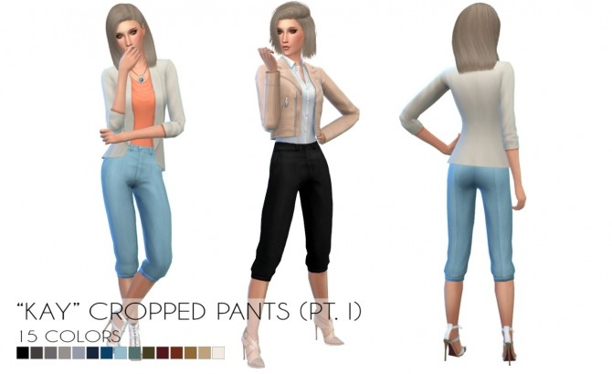 Kay cropped pants Pt. I at Porcelain Warehouse image 17710 670x409 Sims 4 Updates