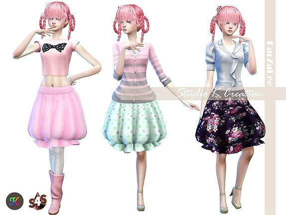 Sims 4 Balloon skirt at Studio K Creation