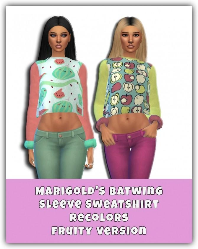 Sims 4 Fruity Sweatshirts at Maimouth Sims4