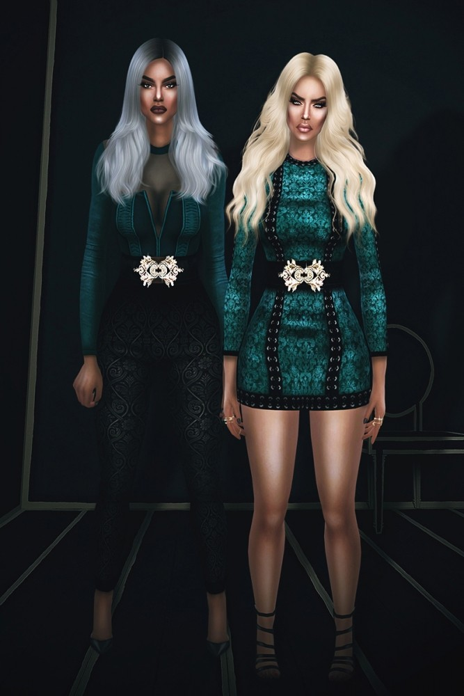 FRS & Salem 2 dresses and 2 jumpsuits at Fashion Royalty Sims image 1823 667x1000 Sims 4 Updates