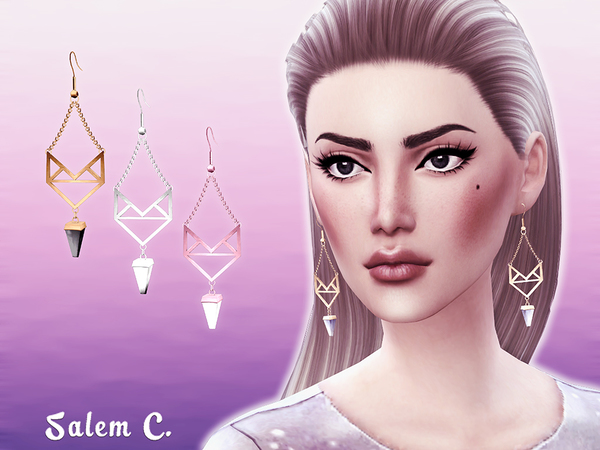 Winged Stone Earrings by Salem C. at TSR image 1829 Sims 4 Updates
