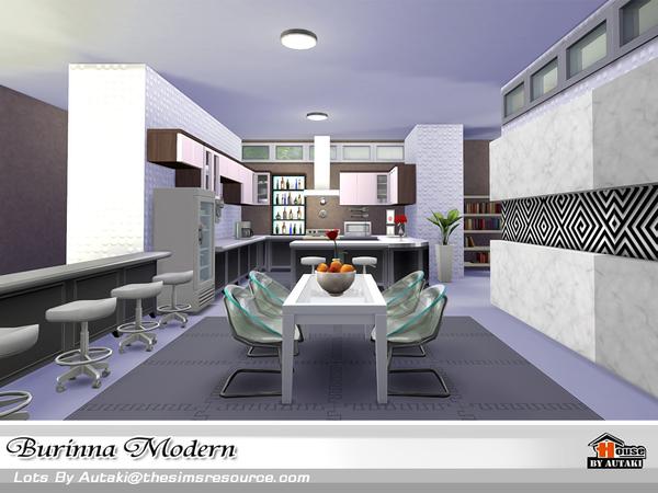 Sims 4 Burinna Modern house by autaki at TSR
