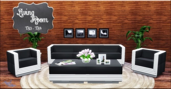 Sims 4 Living Room TS3   TS4 conversion at Victor Miguel