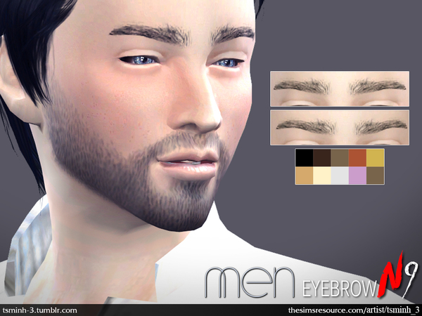 MEN Eyebrows by tsminh 3 at TSR image 1850 Sims 4 Updates