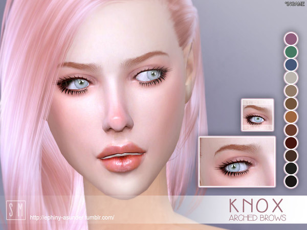 Sims 4 Knox Eyebrows by Screaming Mustard at TSR