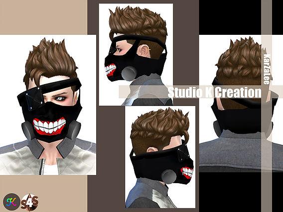Sims 4 TokyoGhoul facemask at Studio K Creation