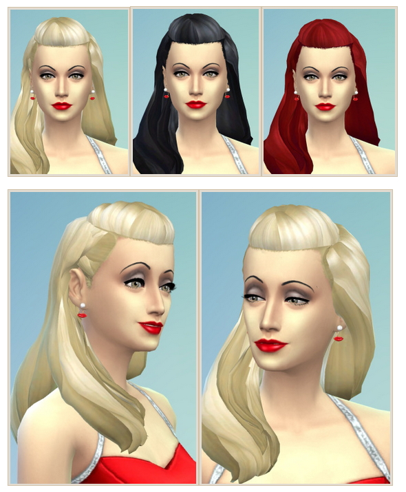 Sims 4 Old Movie Hair at Birksches Sims Blog