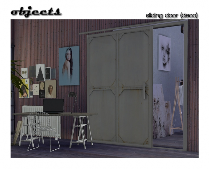 Sliding Door Deco At Shojoangel 187 Sims 4 Updates