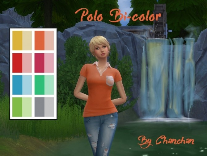Polo Bi color by Chanchan24 at Sims Artists image  Sims 4 Updates