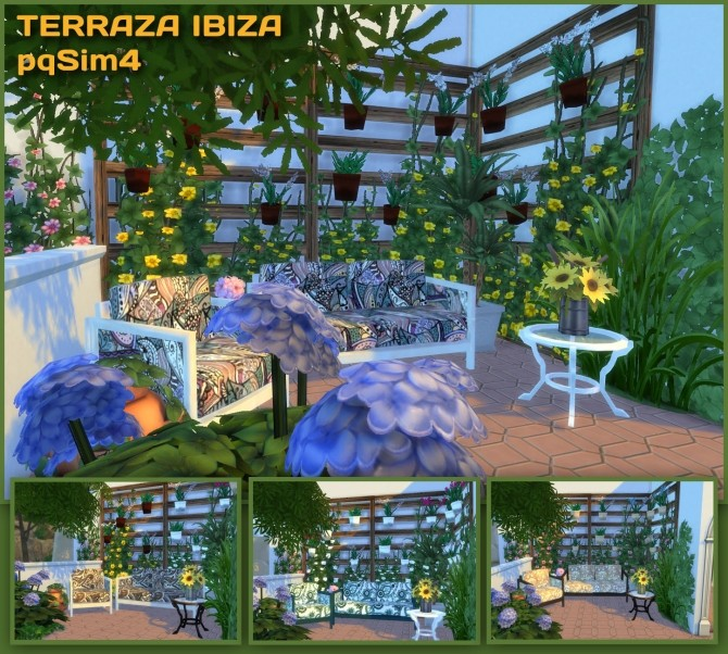 Ibiza Terrace Mediterranean style by Mary Jimenez at pqSims4 image 19613 670x602 Sims 4 Updates