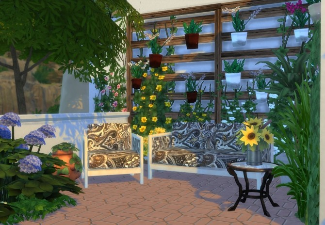 Ibiza Terrace Mediterranean style by Mary Jimenez at pqSims4 image 19713 670x464 Sims 4 Updates