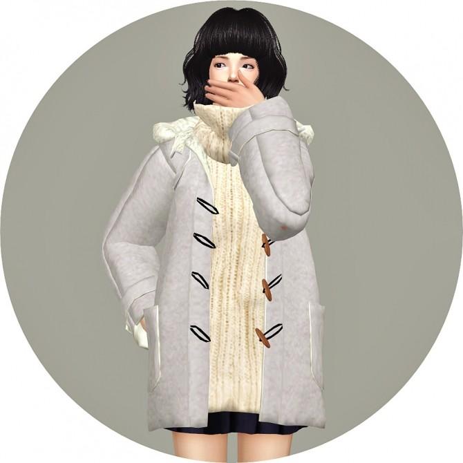 Sims 4 ACC Hood Duffle Coat at Marigold