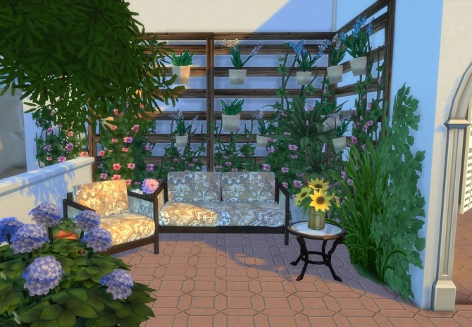 Ibiza Terrace Mediterranean style by Mary Jimenez at pqSims4 image 19913 670x464 Sims 4 Updates