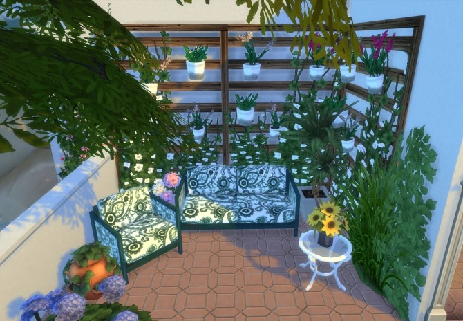 Ibiza Terrace Mediterranean style by Mary Jimenez at pqSims4 image 20013 670x464 Sims 4 Updates