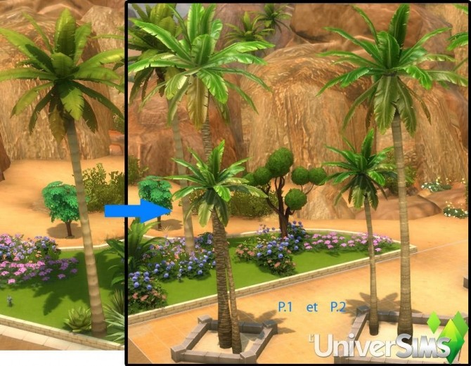 Palm tree bathroom