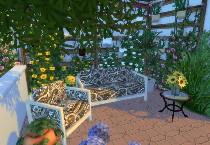 Ibiza Terrace Mediterranean style by Mary Jimenez at pqSims4 image 20215 670x464 Sims 4 Updates