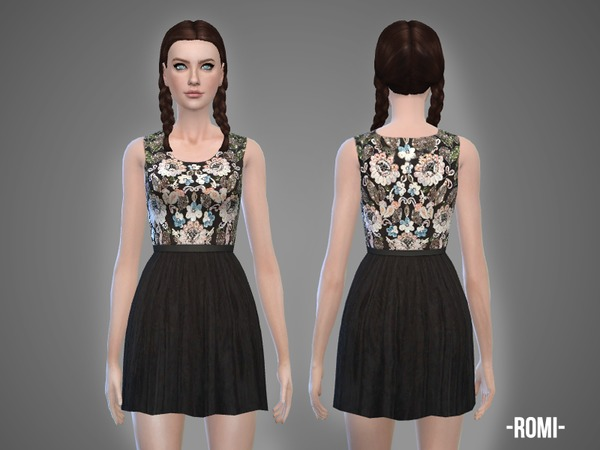 Romi Update: Romi Dress By April At TSR » Sims 4 Updates