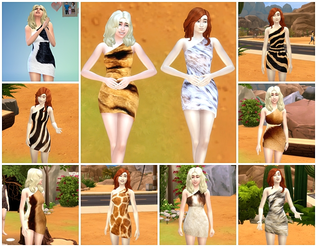 Sims 4 Prehistoric coat dress by Meryane at Beauty Sims