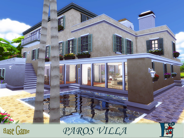 Paros Villa by evi at TSR image 2049 Sims 4 Updates