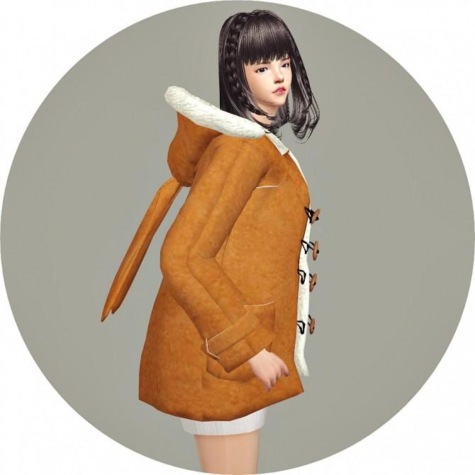 Sims 4 ACC Rabbit Hood Duffle Coat at Marigold