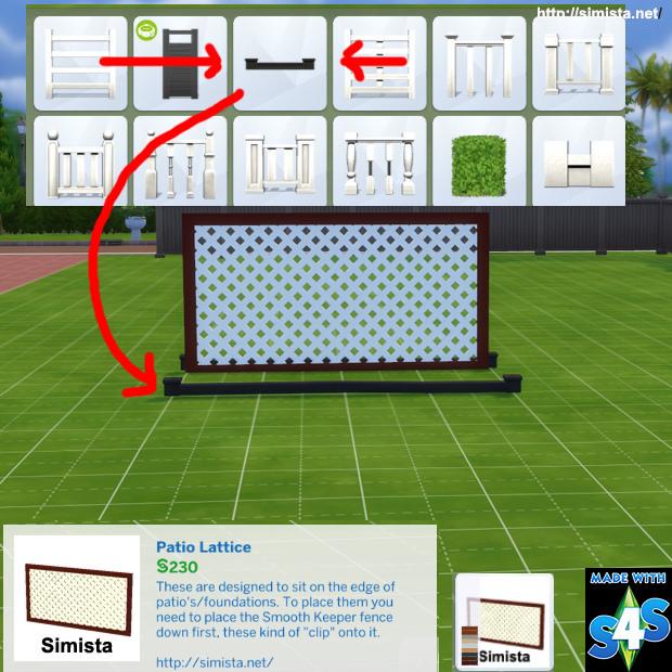 Sims 4 Patio Lattice at Simista