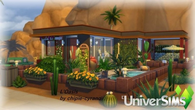 LOasis house by chipie cyrano at L'UniverSims image 20611 670x377 Sims 4 Updates