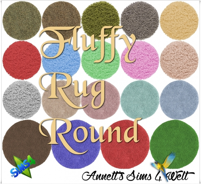 Fluffy Rugs Round At Annett S Sims 4 Welt 187 Sims 4 Updates