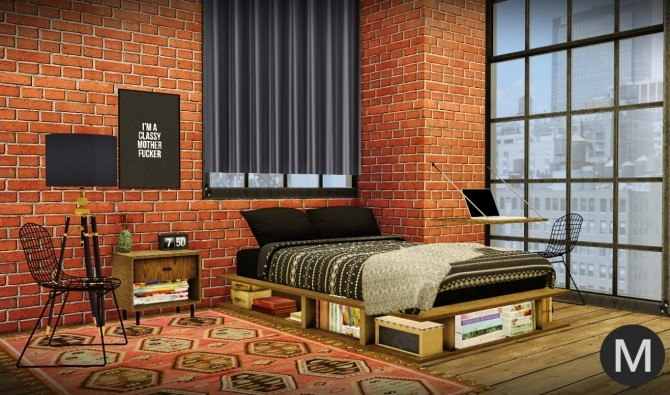 3t4 MS91 Industrial Rustic Bedroom at Maximss image 2071 670x395 Sims 4 Updates