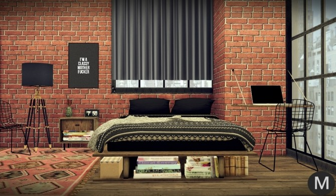 3t4 MS91 Industrial Rustic Bedroom at Maximss image 2081 670x390 Sims 4 Updates