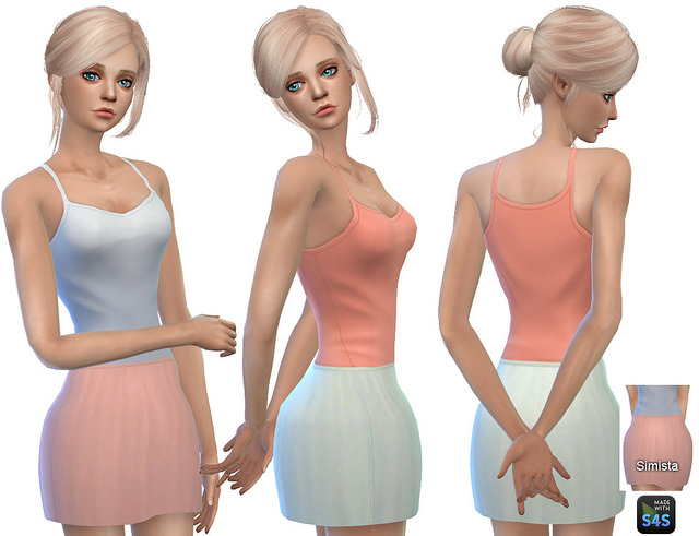 Sims 4 Grace Skirt Collection at Simista