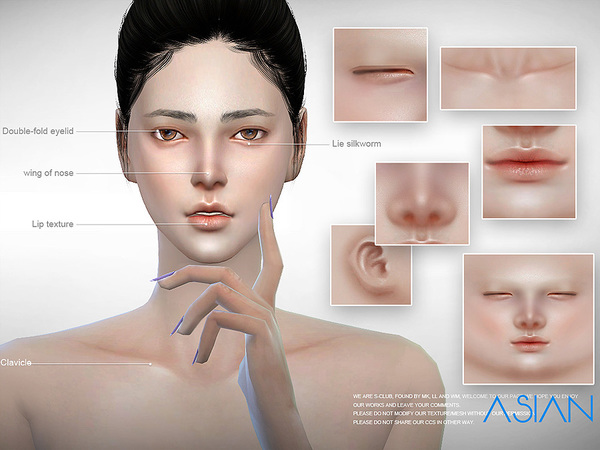 Sims 4 ASIAN skintones 2.0 ALL AGE by S Club at TSR