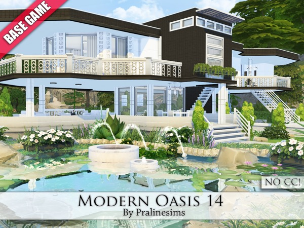 Sims 4 Modern Oasis 14 by Pralinesims at TSR