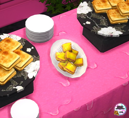 Sims 4 Grilled Cheese Buffet Table by grilledcheese aspiration at SimsWorkshop