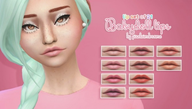 Sims 4 Babydoll Lips at Pixelsimdreams