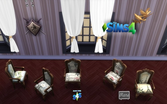 Sims 4 PARIS Collection Chairs and tables at El Taller de Mane