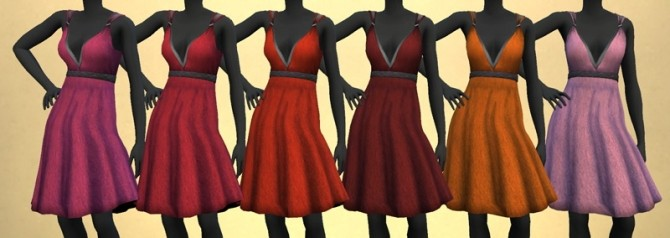 Sims 4 KitOnlyHumans Simple Valentine Dress recolors 1.0 by The Paper Sim at SimsWorkshop