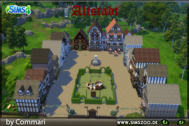 Altstadt lot by Commari at Blacky's Sims Zoo image 2218 Sims 4 Updates