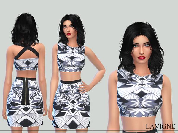 Sims 4 Trinity Dress by Karla Lavigne at TSR