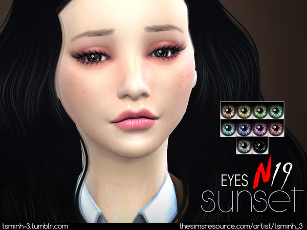 Sims 4 Sunset Eyes by tsminh 3 at TSR