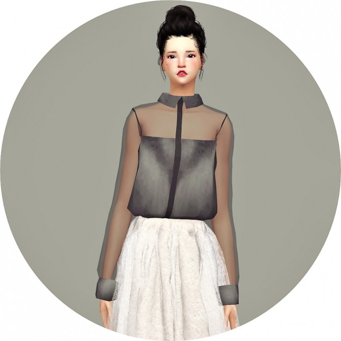 Sims 4 Tucked blouse at Marigold