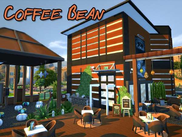 Sims 4 Coffee Bean lot by Waterwoman at Akisima