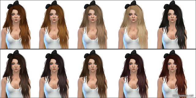 Sims 4 Midsummer Night Hair Retexture at Simista