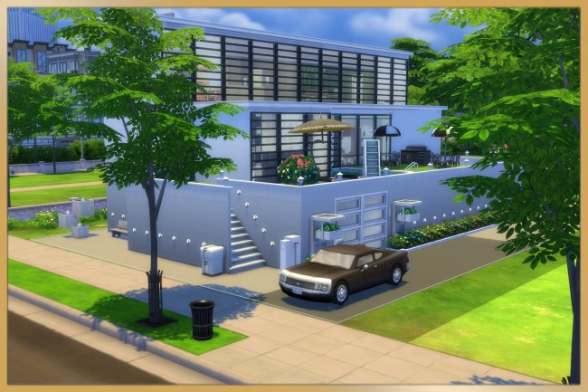Modern Step house by Schnattchen at Blacky's Sims Zoo image 2264 Sims 4 Updates