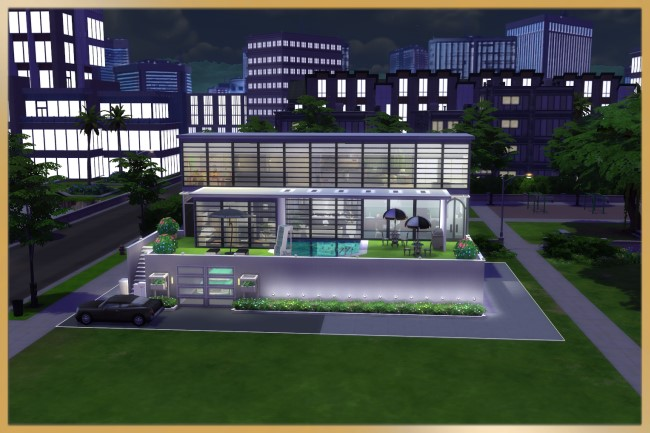 Modern Step house by Schnattchen at Blacky's Sims Zoo image 2274 Sims 4 Updates