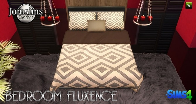 Sims 4 Fluxence bedroom at Jomsims Creations
