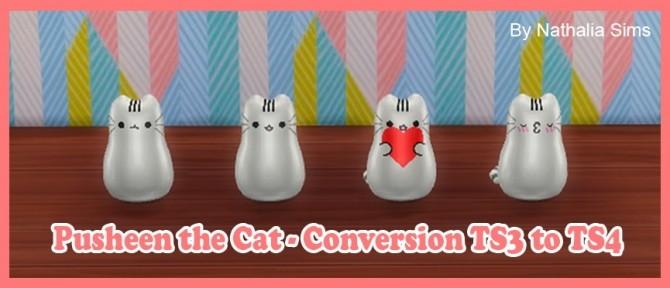 Sims 4 Pusheen the Cat Conversion at Nathalia Sims