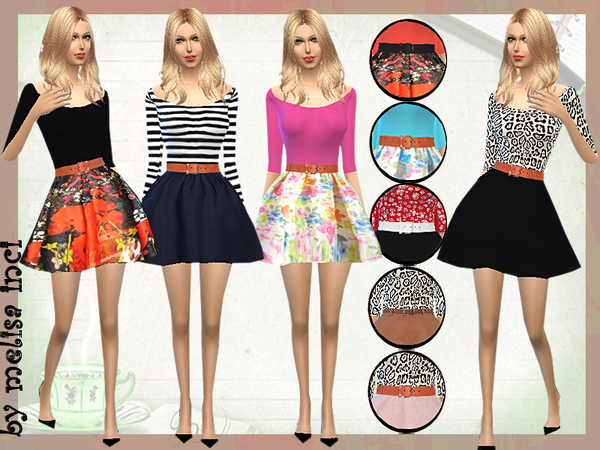 Sims 4 Cute Fall Dresses by melisa inci at TSR