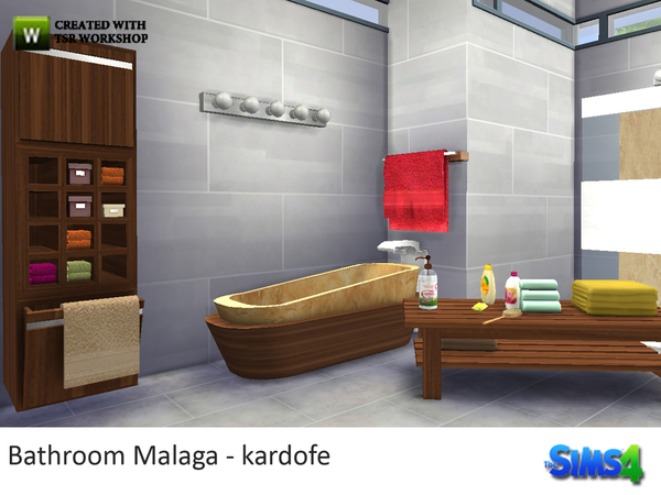 Bathroom Malaga by kardofe at TSR image 244 Sims 4 Updates