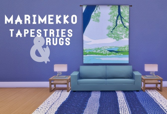 Marimekko Tapestries & Rugs at Hamburger Cakes image 2444 670x456 Sims 4 Updates