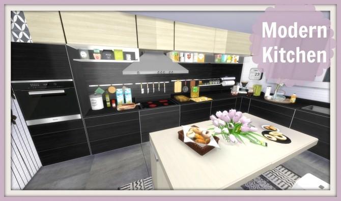 Modern kitchen at dinha gamer sims 4 updates for Modern kitchen updates